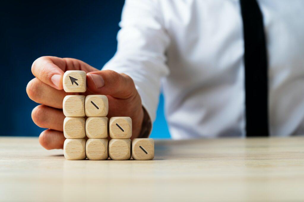 Conceptual image of business success